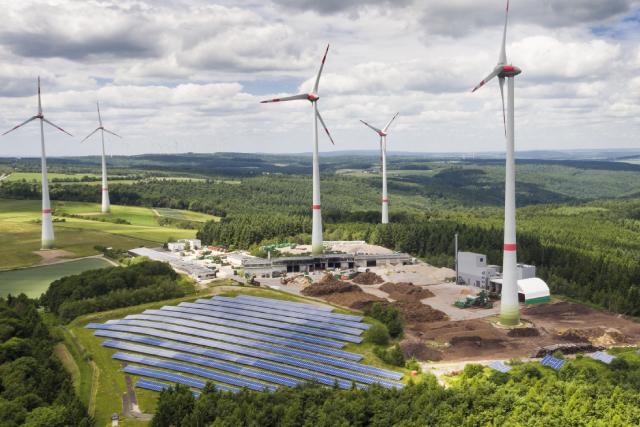 M2M Energieerzeugungsanlagen Konzept Energie